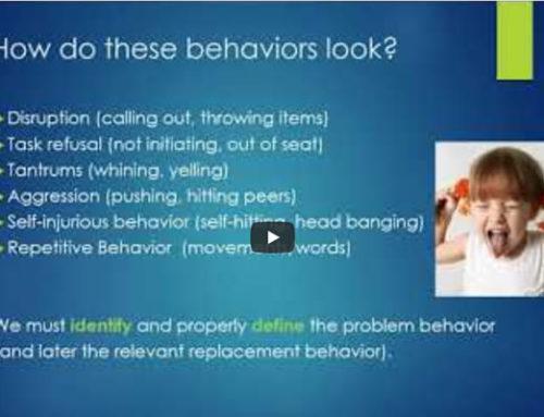 Addressing Problem Behavior: Successful team Approach